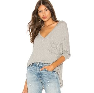 Free people Golden gate gray tee NWT